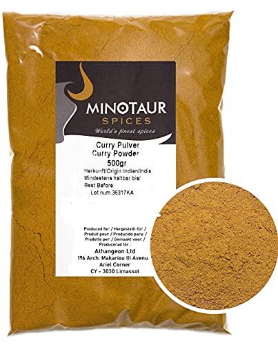 Minotaur Spices   Curry gemahlen, Currypulver mild, 2 x 500g (1 Kg)