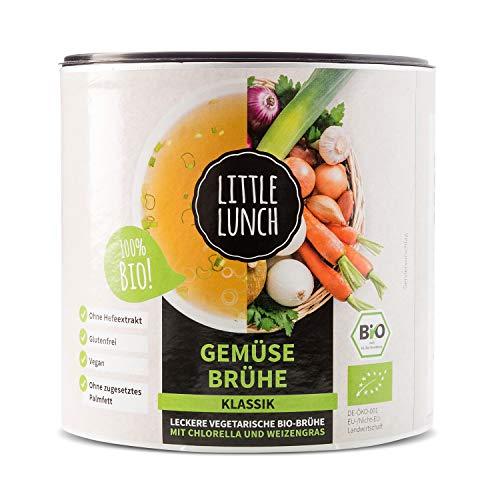 Little Lunch Bio Brühe | 'Gemüsebrühe Klassik' | 420g | Vegan | 100% Bio-Qualität | Ohne zugesetzten Zucker | Ohne Geschmacksverstärker | Ohne Hefe | Ohne Palmfett | Ohne künstliche Zusätz