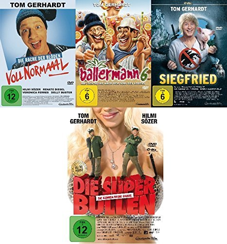 Tom Gerhardt - 4 DVD Set mit Voll normal, Ballermann 6, Superbullen, Siegfried - Deutsche Originalware [4 DVDs]